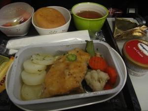 Food on plane!